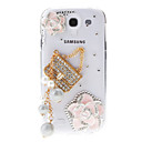 Juwelen en Camellia & Bag Pattern Transparant Hard Cover Case voor Samsung Galaxy S4 I9500