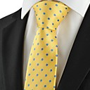 Polka Dot Blue Golden Classic Heren Tie Suits stropdas bruiloft Holiday Gift KT1046