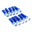 T5 0.15W 1-LED 10LM Blue Light LED Polttimo Car (12V, 10 kpl)