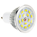 5W GU10 Spot LED 15 SMD 5730 100-550 lm Blanc Chaud Gradable AC 100-240 V