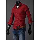 Men's Cotton Plaid Long Sleeve Shirt