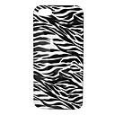 Custodia in bianco e nero della banda della zebra pattern posteriore per iPhone 5/5S
