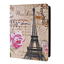 Eiffel and Pink Rose Pattern Full Body Case with Stand for iPad 2/3/4