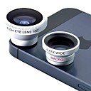 Magnetic tre i en vidvinkellinse / Macro lens/180 Fish Eye Lens / Kit Set for iPhone 5/4 / 4S / iPod / iPad