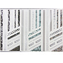 Buy 3-Styles 3D Silver Hot Stamping Nail Art Stickers