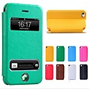 Ny Smart Luksus Flip Leather Cover case for iPhone 4/4S (assorterte farger)