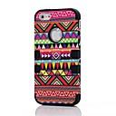 2 en 1 de style tribal PC et composite Case silicone pour iPhone 4/4S (couleurs assorties)