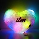 Roztomilý Peach Heart Plyšová LED 7-Color Světelný Light Emitting polštář (napájení z baterie není součástí balení)