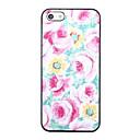Smuk blomst mønster Tilbage Case for iPhone 5/5S