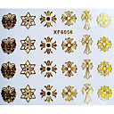 Buy 3D Classic Style Cross Design Hot Stamping Nail Art Stickers XF Series