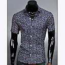 För män kavaj Mode Casual kortärmad blommig skjorta