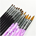 Buy 1Black & Purple Color Painting Drawing Nail Art Pen Brushes Set Manicure UV Gel False Tips Acrylic