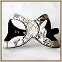 Grey Snake Skin Design Genuine Leather Doggie Harness for Pets Dogs (Assorted Sizes)