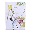 Noctilucent Artcity Girl Pattern Leather Full Body Case with Stand for iPad Air