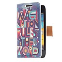 Imagination Rules the World Style Leather Case with Card Slot and Stand for Samsung Galaxy S Advance i9070
