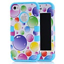 Colored Bubbles Pattern Combo Case for iPhone 4/4s