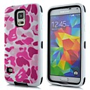 2 in 1 Pink Camouflage  Robot Style PC and Sillcone Composite Case  for Samsung Galaxy S5 I9600(Assorted Colors)