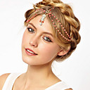 Fashion Orange Pearl Golden Alloy Headband(1 Pc)