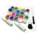 Best Selling Freeshipping (17Pcs Shiny Powder + 2 Brush + Tatoo Stencils + 2 Glue)/Set C141