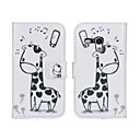 Giraffe Pattern Pu Leather Full Body Veske til Samsung Galaxy S3 mini I8190