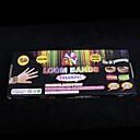 baoguang®rainbow barva kabeláž kapely nastavit (600pcs gumičky, 1 PAK s klipy, 1 hák, 1looms