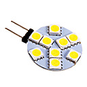 G4 2.5 W 9 SMD 5050 130-180 LM Warm White/Cool White Bi-pin Lights DC 12 V