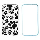 Bear Footprints Pattern TPU + PC 2-in-1 Hard Case Cover for Samsung Galaxy S5 I9600