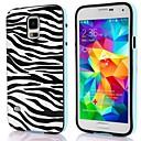 Zebra Pattern TPU + PC 2-in-1 Hard Case Cover for Samsung Galaxy S5 I9600