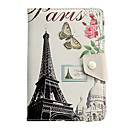 7 Inch The Butterfly Iron Tower Pattern General Tablet Case