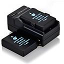DSTE 7.4v 1600mah en-EL14 * 2 baterai + dc111 * 1 charger untuk nikon D5100 kamera p7800 D3100