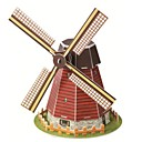 子供と大人のジグソーパズルのための教育玩具魔法のパズルオランダの風車モデル3Dパズル(20枚)