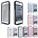 caso macio transparente amortecedor de TPU para iphone 5 / 5s (cores sortidas)