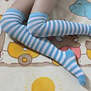 Buy Socks/Stockings Sweet Lolita / Sailor White Blue Accessories Stockings Striped Women Nylon