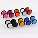 Buy Lureme®316L Surgical Titanium Steel 8mm Candy Color Acrylic Single Stud Earrings (Random Color)