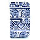 Elephant Carpet Pattern PU Leather Cover Case with Stand for Samsung Galaxy Ace 3 S7272/S7275
