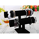 Classic Beautiful Korean Bracelet Stand Black Wood Flannelette Jewelry Displays(1 Pc)