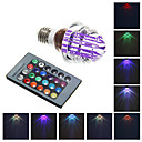 E26/E27 3 W Integrate LED 240 LM RGB A Remote-Controlled Globe Bulbs AC 85-265 V