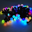 Marsing® Christmas decorative 5M 8W 50-LED Flash Modes Festival Ball Party Multi-color Light Strip - (AC110-220V)