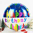 Round Happy Birthday Aluminium Membrane Baby Shower Birthday Party Balloon(Random Color)