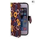 colarinho personalidade coway pano afixada caso coldre telefone móvel para iphone5 / 5s (cores sortidas)