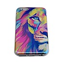 lureme moda metà leoni faccia blu ray stampa in silicone posteriore Case for iPhone 6 / 6s