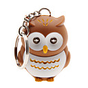 Cartoon Owl LED Light with Sound Effects Keychain