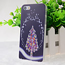 Crystal Surface Christmas Tree Pattern Hard Case for iPhone 5/5S