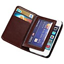 Durable PU Leather Wallet Case for Apple iPhone 4/4s