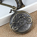 Men's Bike Alloy Analog Quartz Pocket Watch (Bronze)