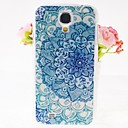 Zircon Flowers Pattern Embossment Back Case for Samsung Galaxy S4 I9500