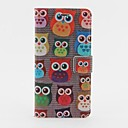 Owl Heads Pattern PU Leather Case with Stand and Card Slot for iPhone 6 Plus