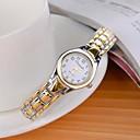 stile alla moda orologio da polso al quarzo analogico in lega da donna