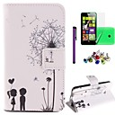 The Love Dandelion Pattern PU Leahter Case with Film,Stylus and Dust Plug for Nokia Lumia 630/635