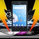 perimmäinen iskunvaimennus näytönsuoja Sony Xperia z l36h (3 kpl)